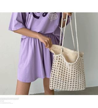 Net Square Shoulder Bag #86533