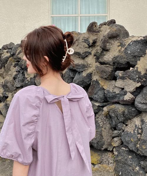 Robin Bag Ribbon Puff Dress -2color