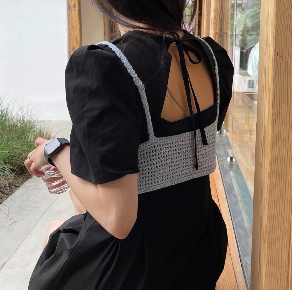 Ruby V-neck back split mini Dress