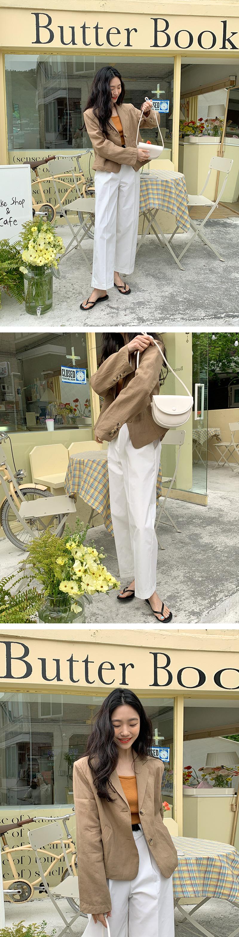 Little Half Moon Leather Shoulder Bag