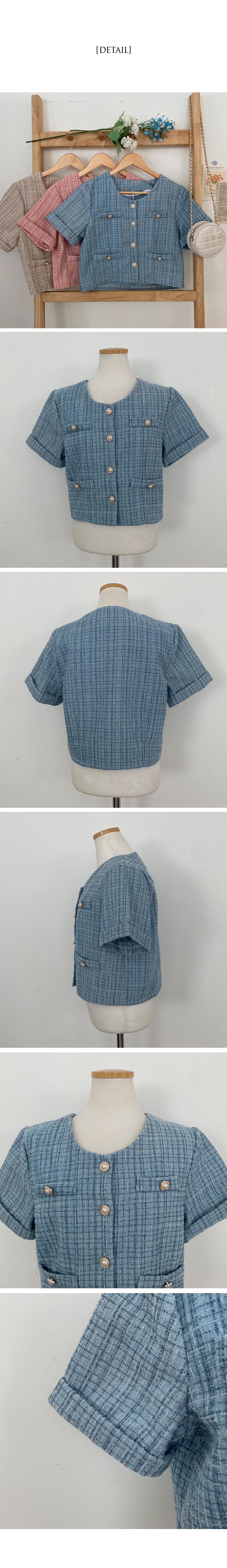 Ari short sleeve tweed jacket