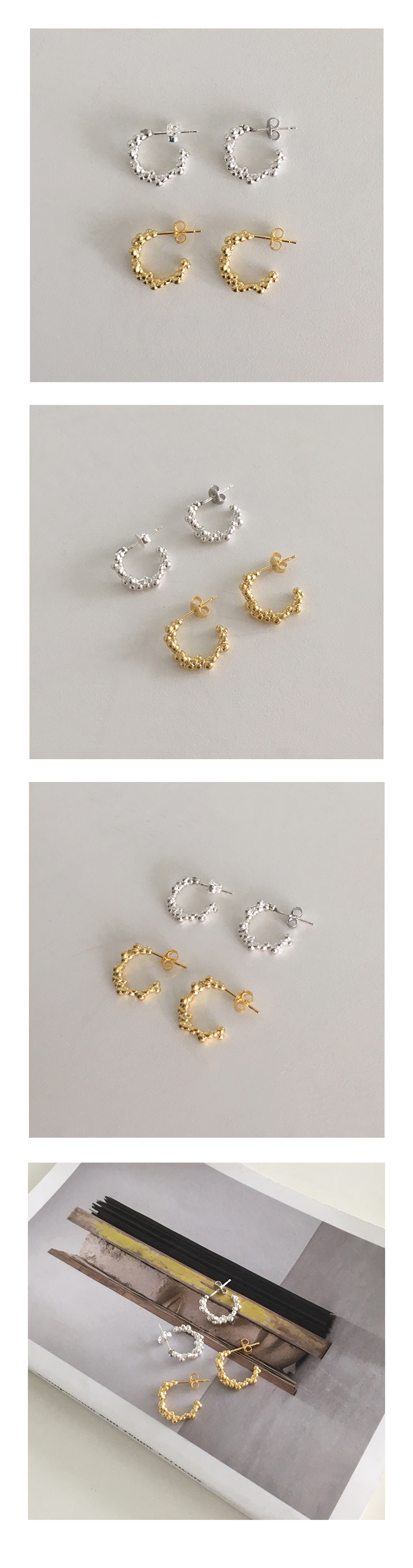 soap bubbles earring