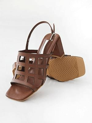 Yegamgood leather slingback sandals 6cm