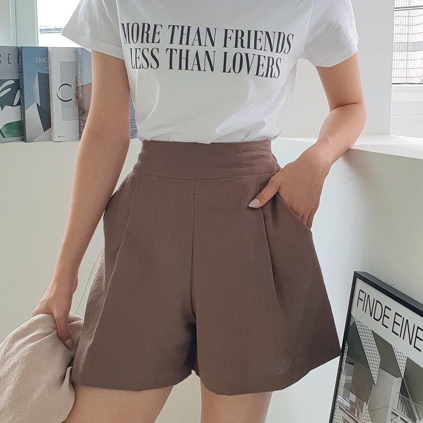 Nesop linen banding shorts 短褲