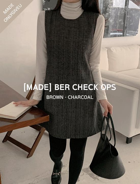 velvet check Dress