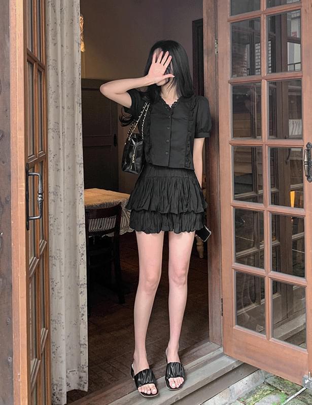 Linis cancan mini skirt