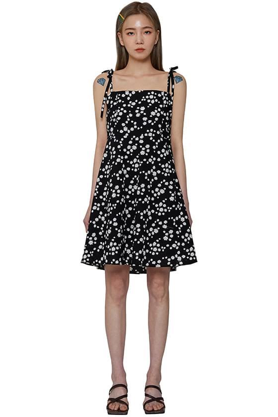 Summer daisy sleeveless mini dress