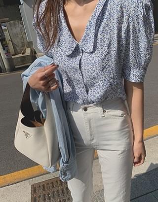 Garden collar blouse