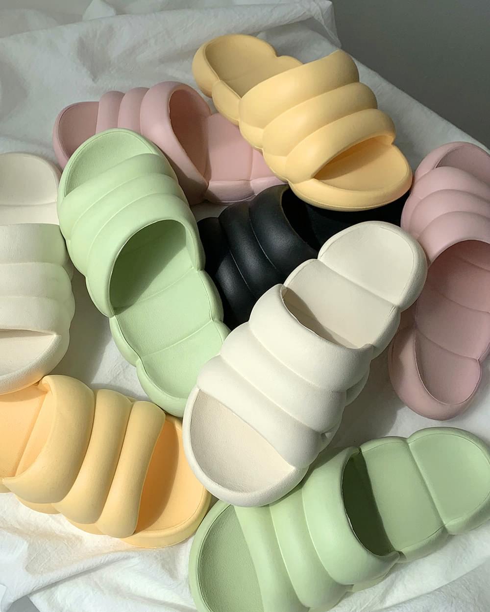 Pastel cloud slippers