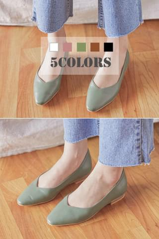 듀듀 - shoes (파스텔 스틸레토 플랫슈즈 )