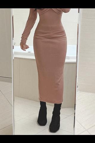 Sugar Coral Long Dress