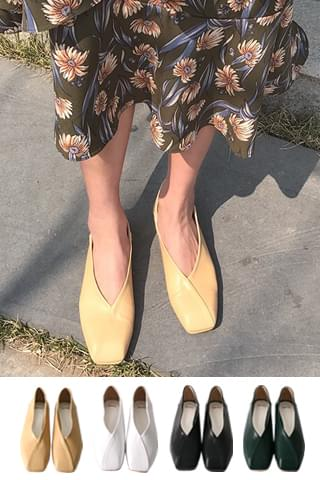 ] 앨린 - shoes [절개 발레 플랫슈즈 4colors