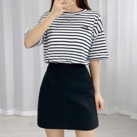 Linen h skirt