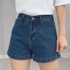 High roll-up short pants