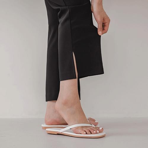 Jelly slit Flared slacks (S ~ XL size)