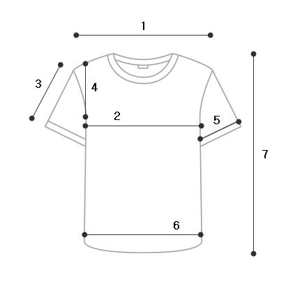 (유니섹스) 하브 스티치 반팔 티셔츠