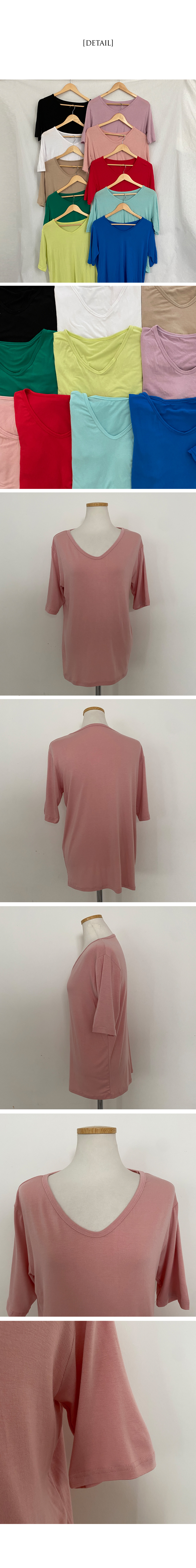 Rayon Loose-fit short-sleeved T-shirt for summer