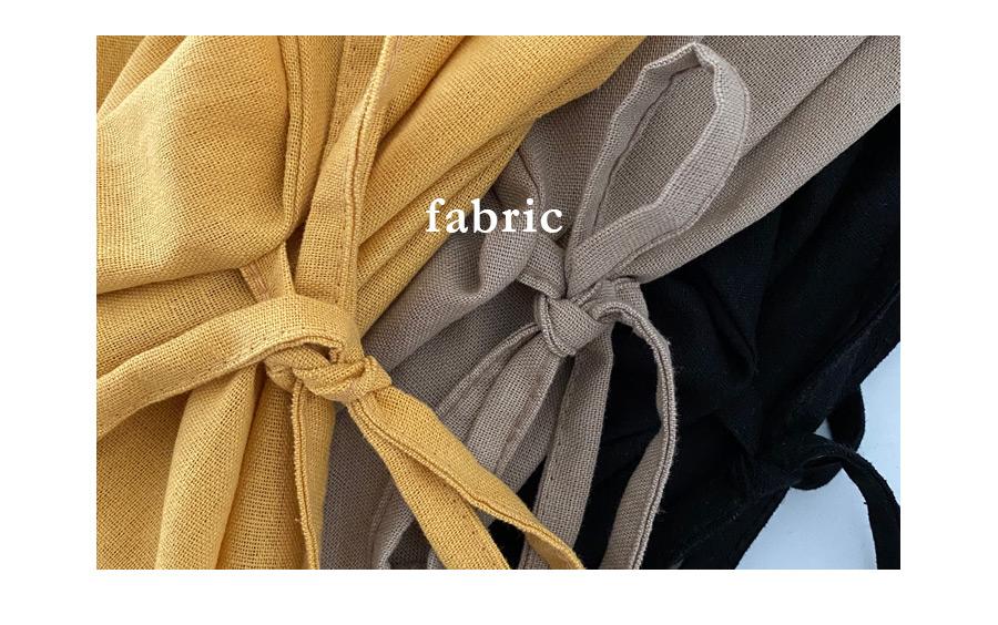 Velda linen twisted short-sleeved mini Dress