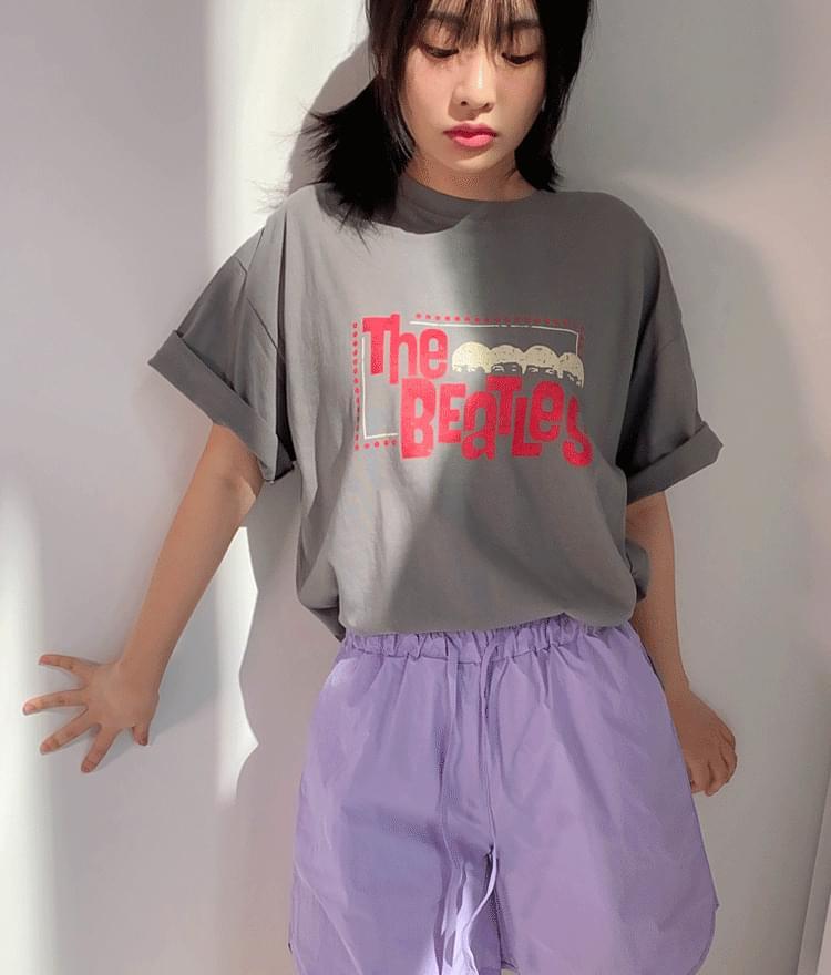 Front Print Crew Neck T-Shirt