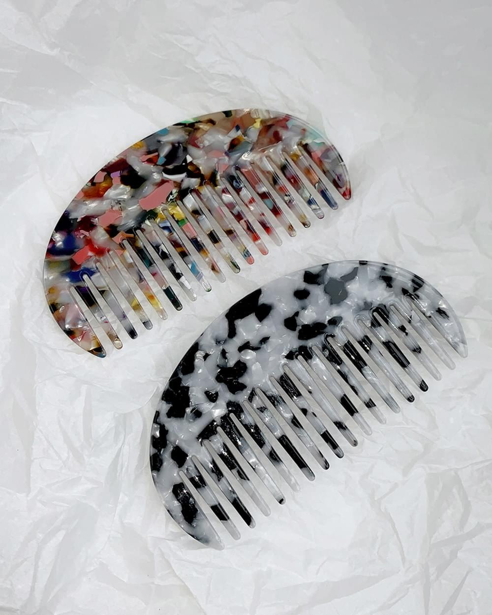 Alive Marble Cellulose Hair Comb