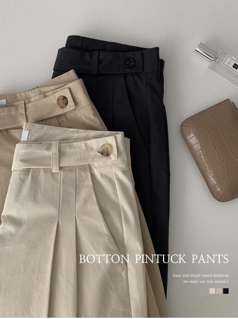 Majo pintuck button pants
