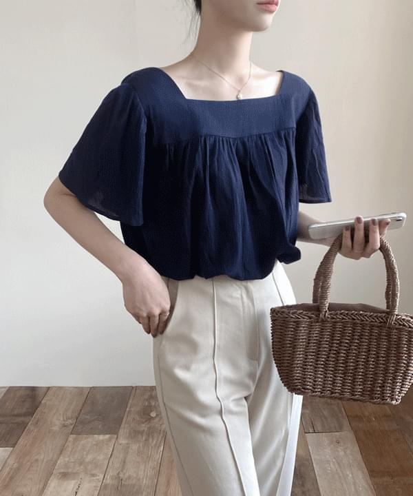 Jenna square-neck blouse