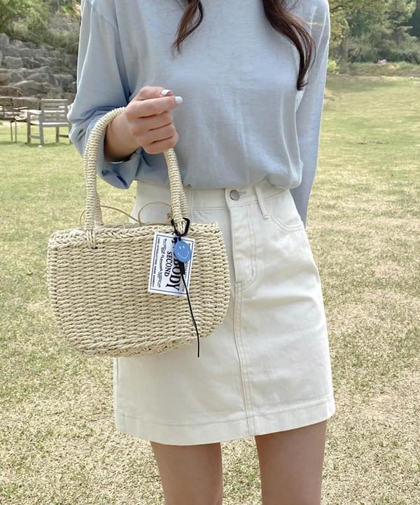 Teag cotton mini skirt