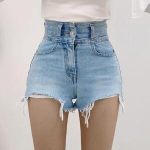 Umble high waist unfooted cutting short pants