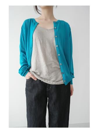 natural flowing linen sleeveless