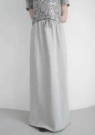 loop easy maxi jersey skirt