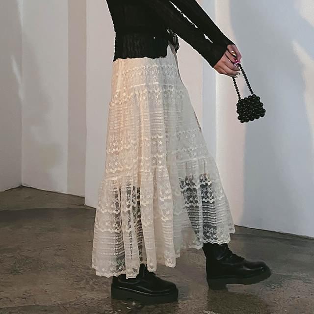 lace nature long skirt 裙子