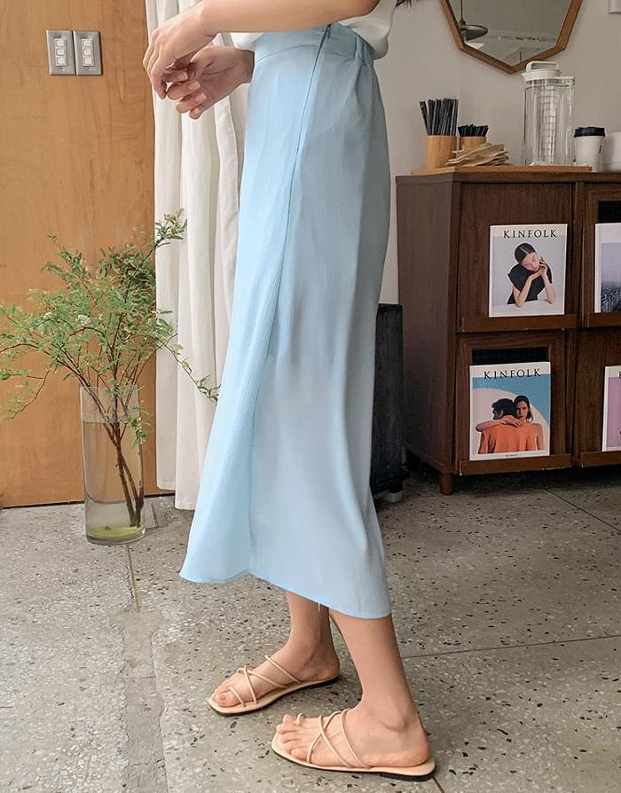 Plica Chiffon Skirt