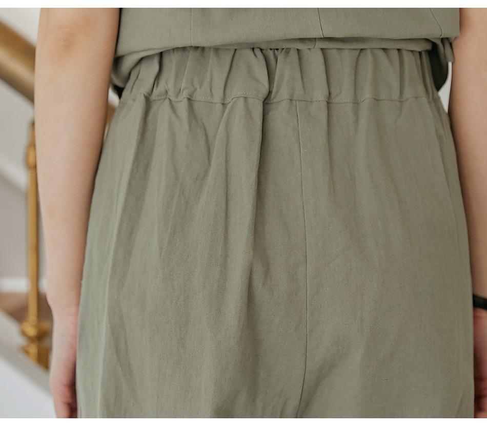 Pleat Detail Wide Leg Pants