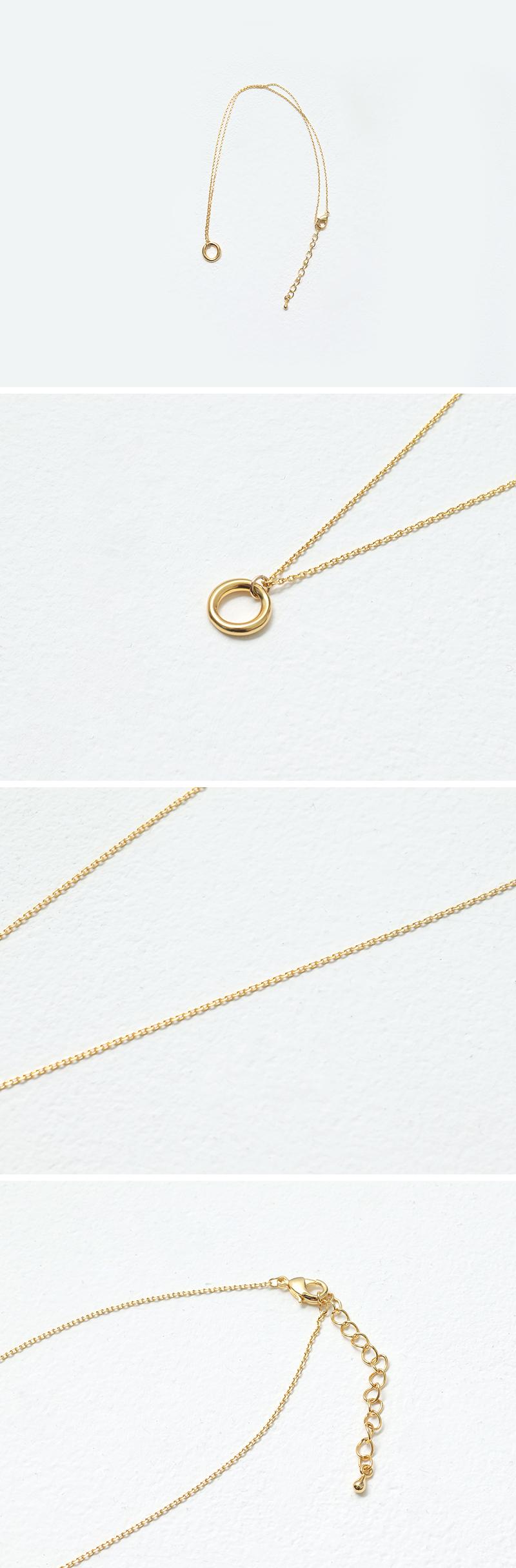 Mini donut pendant necklace