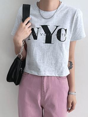 NCT Printed Cropped Short Sleeve Tee