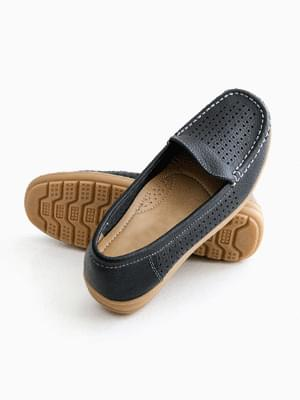 Cost-effective leather punching loafers 3cm