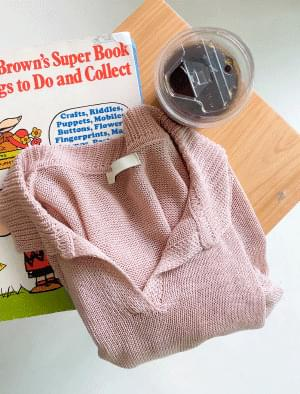 Macaron Collar Neck Crop Knitwear