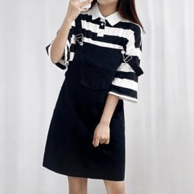 Cotton Girl Suspenders Dress