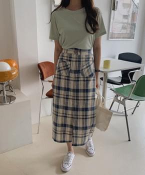 Highcer checked skirt