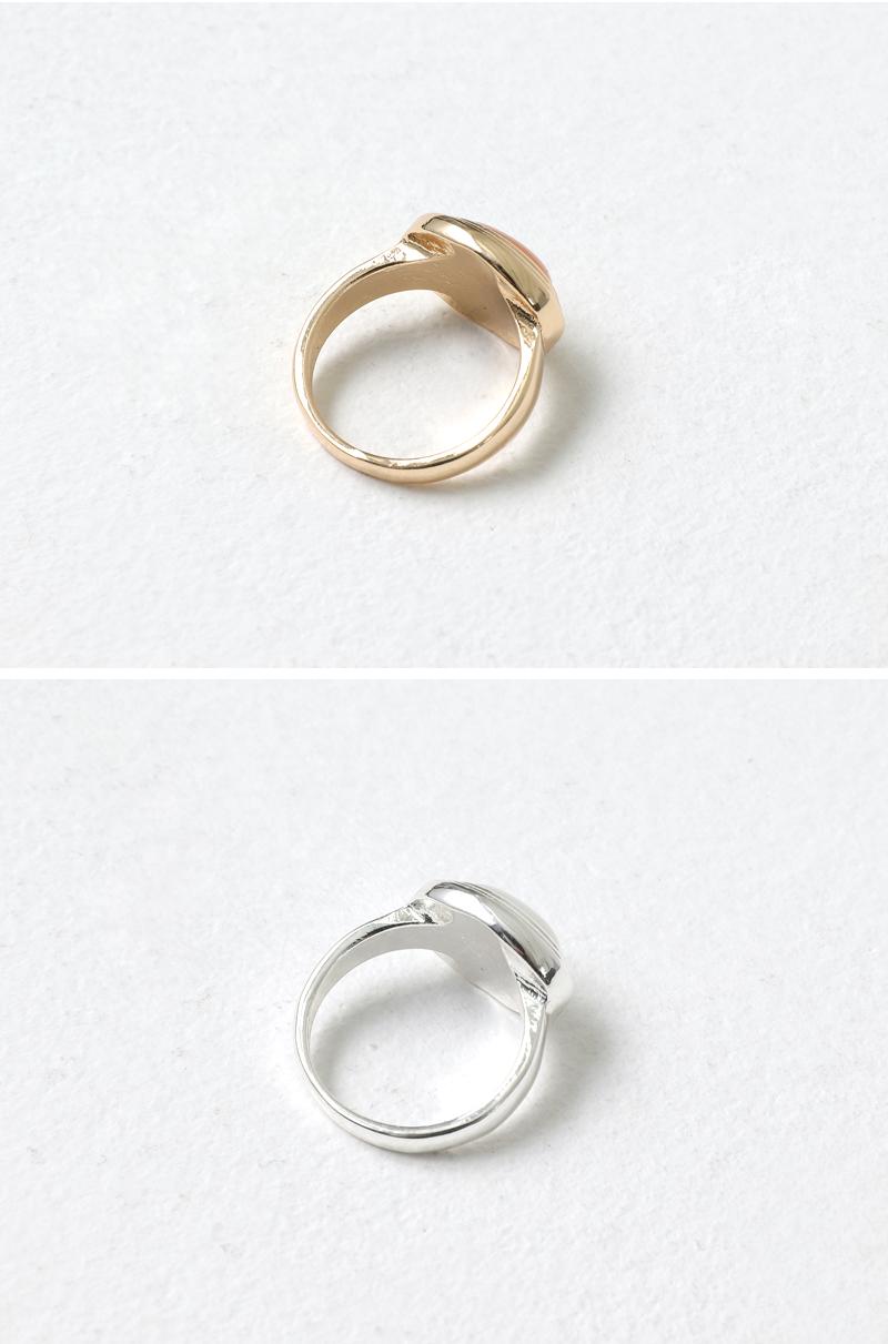 Round gemstone metal ring