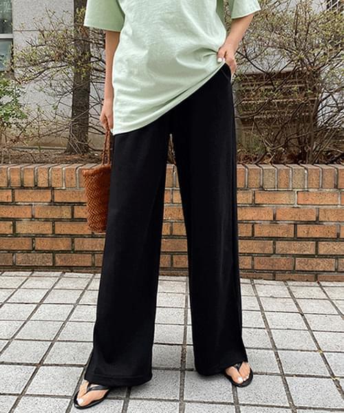 Side Split Over Wide Banding Pants