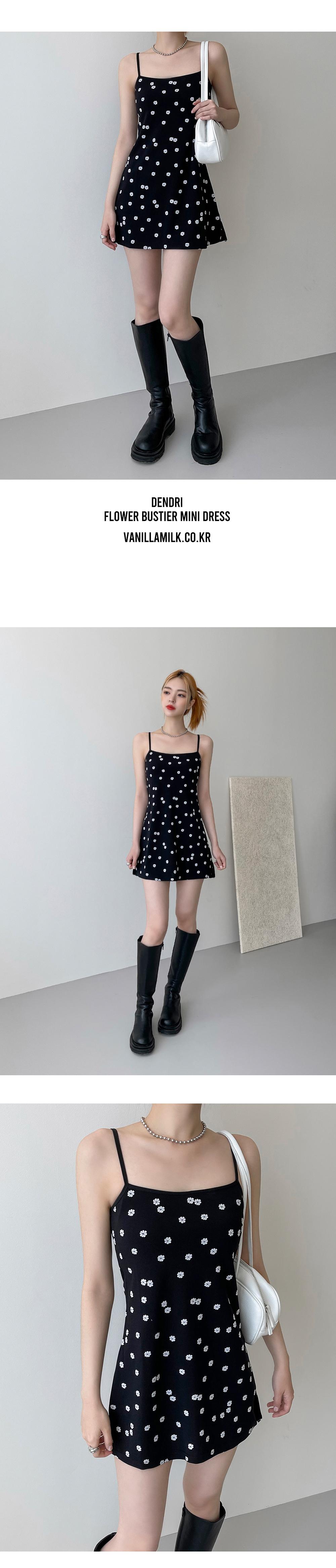 Dendri Flower Bustier Mini Dress
