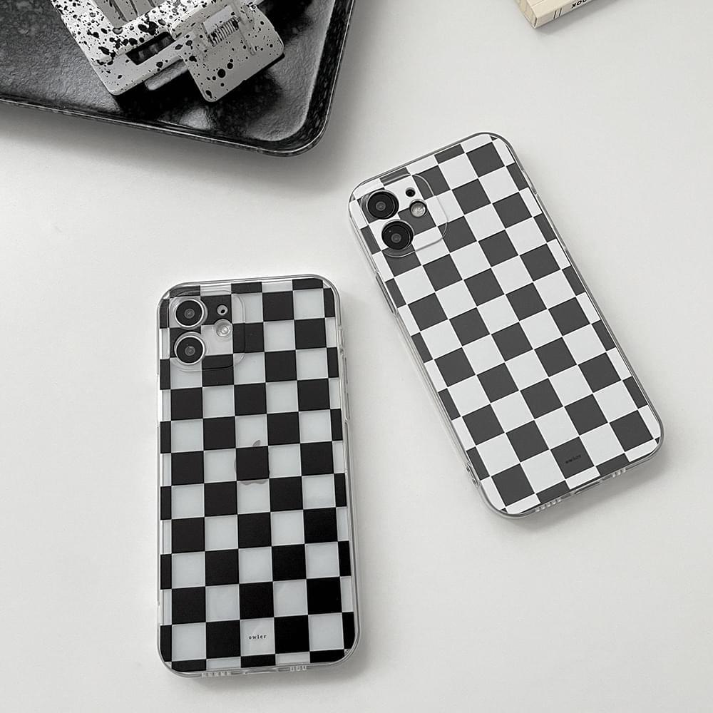 Go Checkerboard Check Full Cover iPhone Case