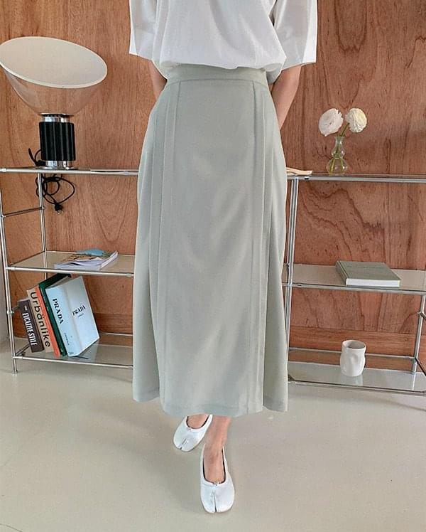 May pleated long skirt