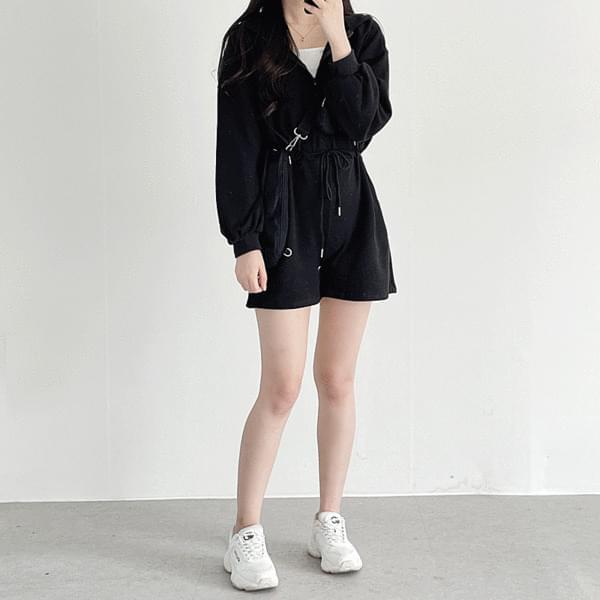 Anorak hooded jumpsuit