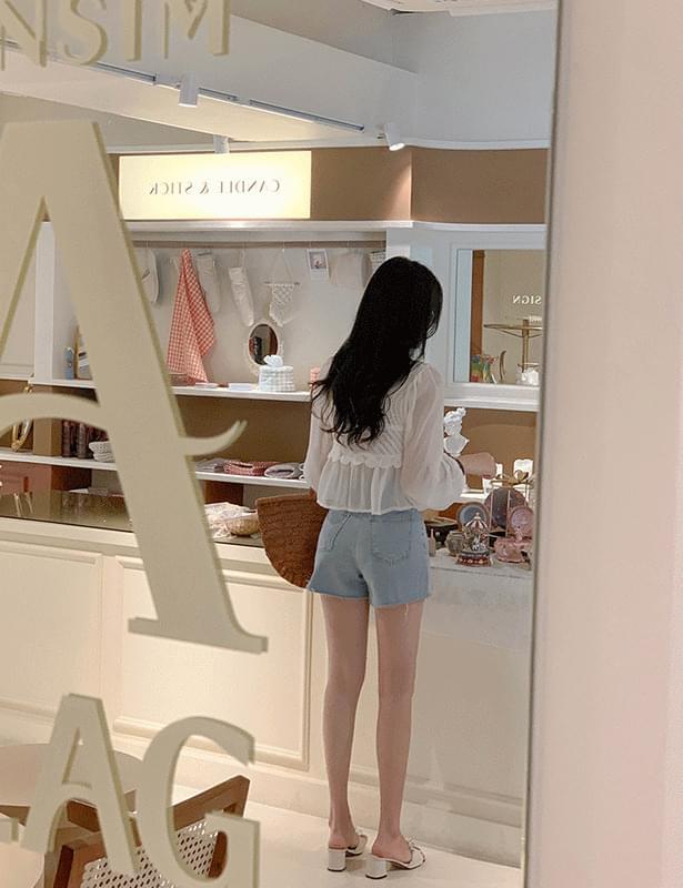SG denim short pants