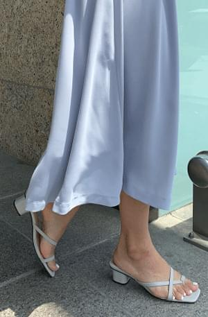 Stitch X-strap mules sandals