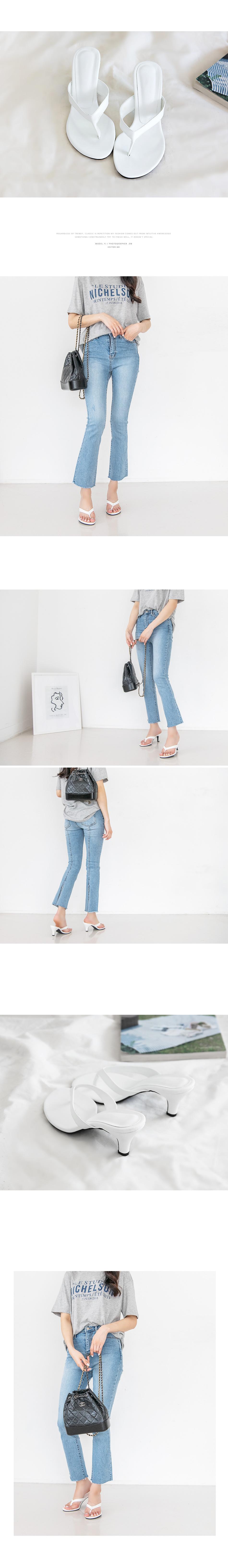 Irene Sasuri Mule Slippers 6cm