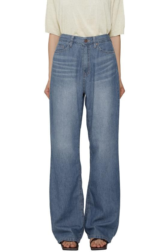 Summer silky wide jeans
