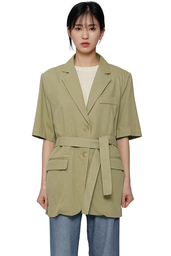 Vera half linen jacket